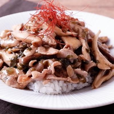 豚肉と高菜の台湾風あんかけ丼