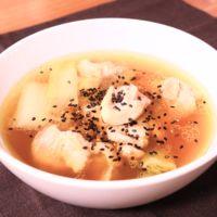 スープが美味しい!ねぎと鶏もも肉のあったかスープ