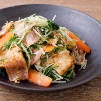 水菜と豚バラ肉のチャンプルー