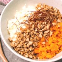 節約!豆腐と卵でつくるふわふわ三色丼