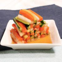 さっぱり彩り鮮やか野菜のゆず胡椒漬け