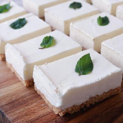 簡単 ひんやり美味しい レアチーズのアイスケーキ