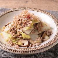 白菜と豚ひき肉のしょうが炒め