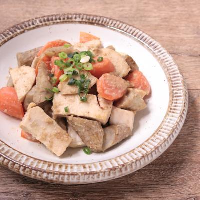 常備菜に 鶏むね肉と根菜のごま味噌和え