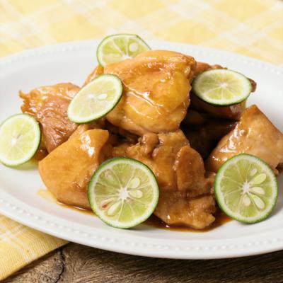 鶏もも肉のすだち照り焼き