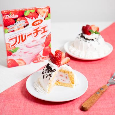フルーチェで簡単!ふんわりムースのドームケーキ