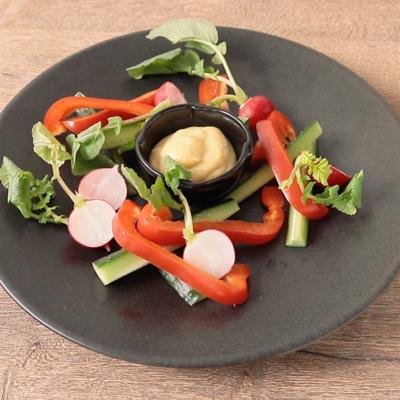 辛子みそマヨディップで野菜スティック