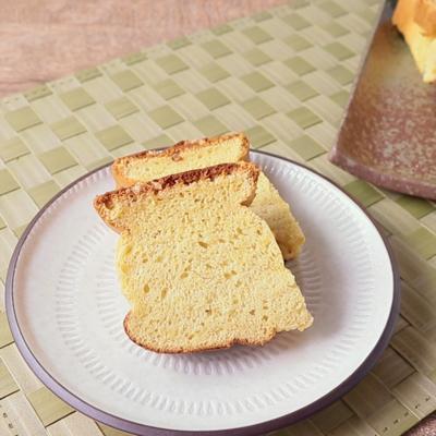 パウンドケーキ型で ふわふわカステラ