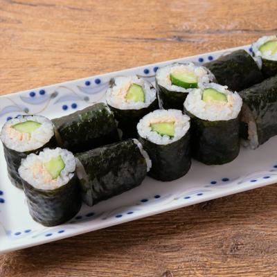 寿司酢で簡単 ツナときゅうりの細巻き