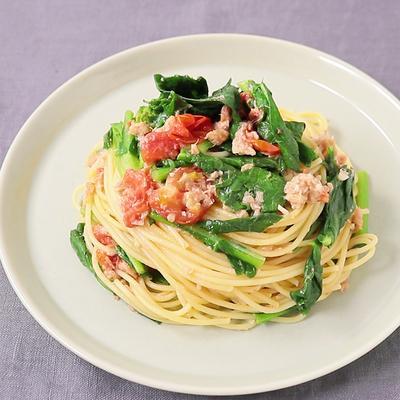 のらぼう菜のフレッシュトマトパスタ