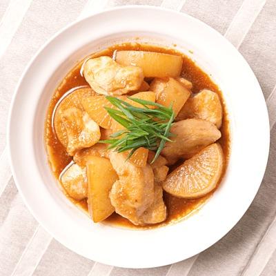 鶏むね肉と大根のこっくり煮