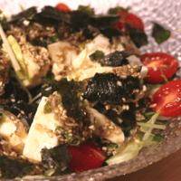 韓国風ドレッシングの豆腐サラダ