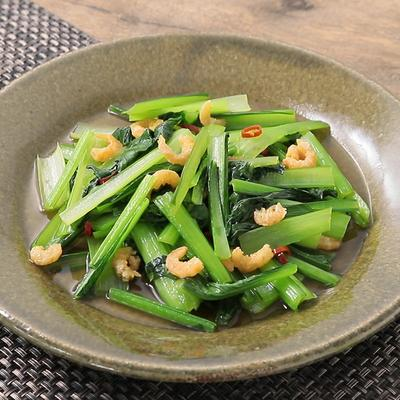旨味たっぷり 小松菜と干しエビの炒め物