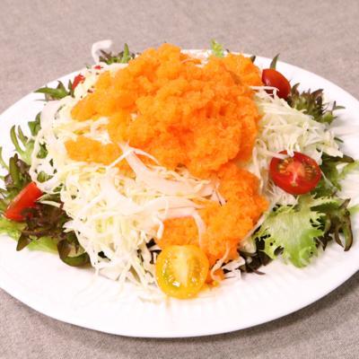 手作りにんじんドレッシングで!美味しいサラダ
