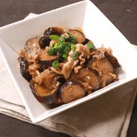 生姜が爽やかな豚肉とナスのポン酢炒め