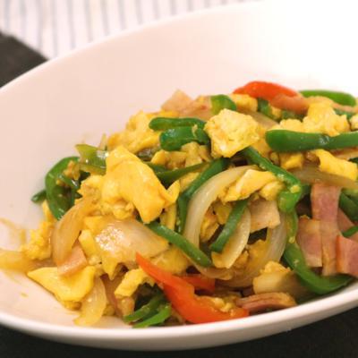 卵がふんわり 彩り野菜のオイスターソース炒め