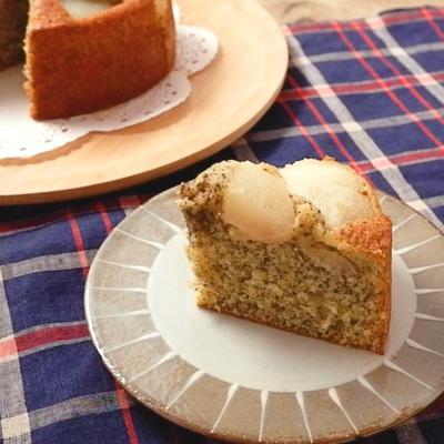 ごろごろ梨と紅茶のケーキ