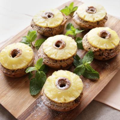 ホットケーキミックスで簡単 パイナップルリングケーキ