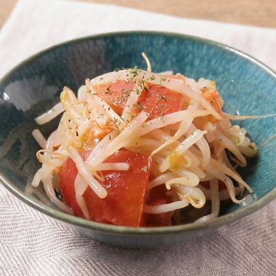 トマトともやしのオリーブオイル和え