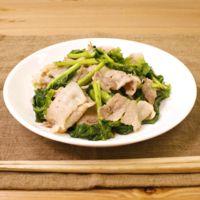 かき菜と豚バラの炒め物