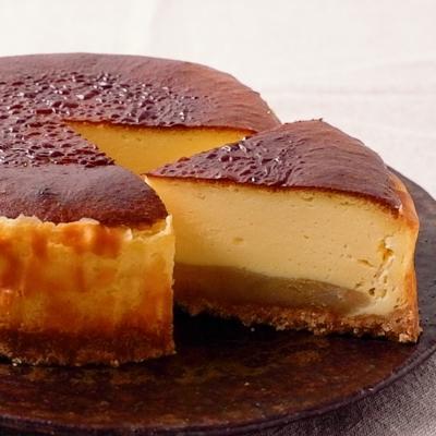 ゆず香るベイクドあんこチーズケーキ
