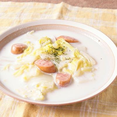 ウインナーと白菜のクリーム煮