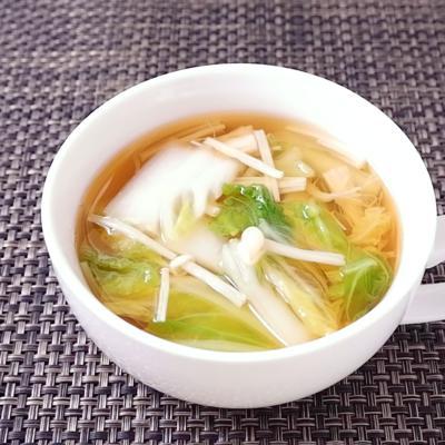 白菜とえのきのあっさり和風スープ