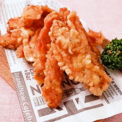 鶏むね肉でサクサクのハーブチキンフィンガー