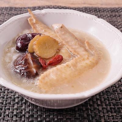 鶏手羽と椎茸のおかゆ