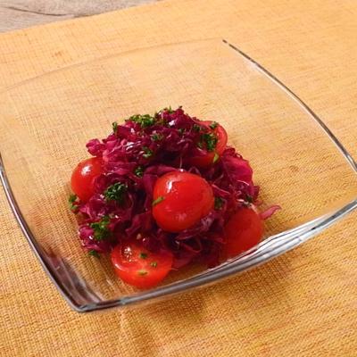 ミニトマトと紫キャベツのマリネ