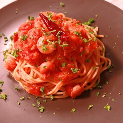 エビの濃厚トマトスパゲティ