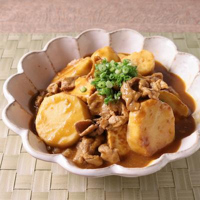 ごはんのお供に 里芋と厚揚げのカレー煮