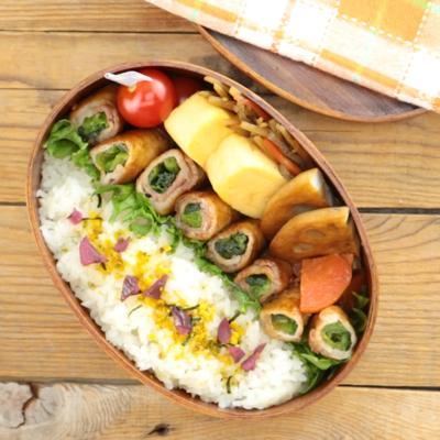 お弁当に 小松菜の肉巻き