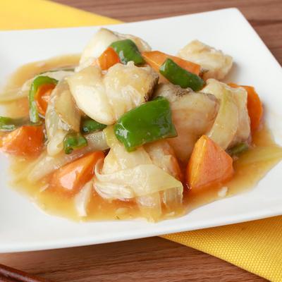 鱈の野菜たっぷり甘酢あんかけ
