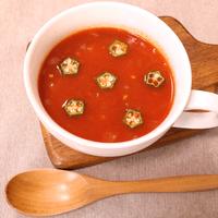 オクラのトマトスープ