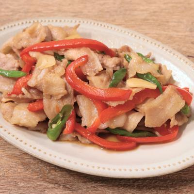 青唐辛子と豚バラ肉の辛炒め