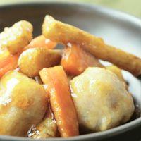 里芋とごぼうの揚げ甘辛煮