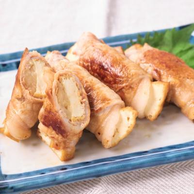 新生姜の甘酢漬け 変わり肉巻き