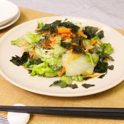 シンプルが1番!レタスの韓国風サラダ