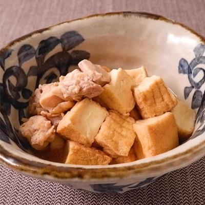 鶏もも肉と厚揚げの簡単煮物