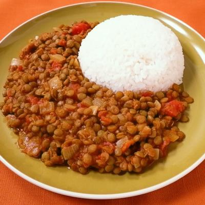 自宅でお手軽に レンズ豆で作るダルカレー