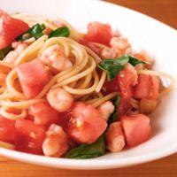エビとトマトのオイルスパゲティ