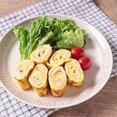 お弁当におすすめ  ハムとチーズの玉子焼き