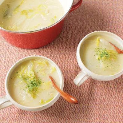 白菜とツナの節約シチュー