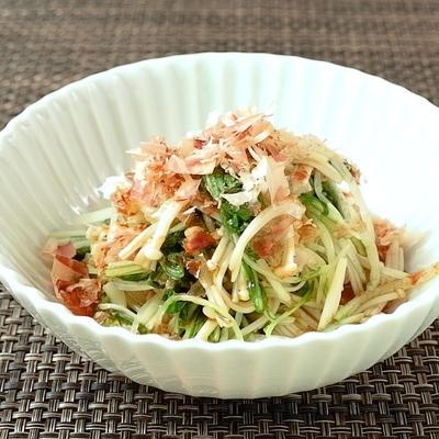 簡単に作れる 水菜とえのきのおひたし