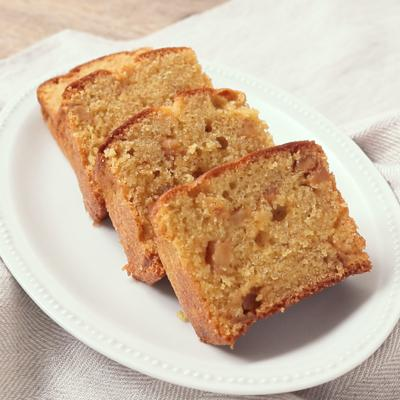 しっとり カラメルりんごのパウンドケーキ