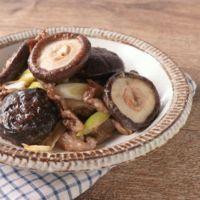 ごろっと椎茸と牛肉のマヨポン炒め