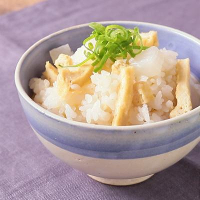 生姜たっぷり 大根と油揚げの炊き込みご飯