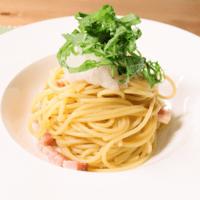 ポン酢と大葉がアクセント!大根おろしとベーコンの冷製スパゲティ