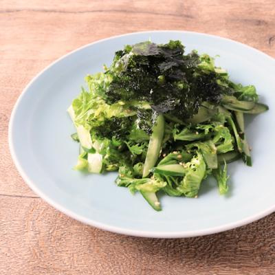 わさび菜のチョレギサラダ